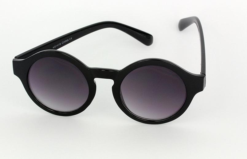 913de3acac308a Mooie ronde mat zwarte dames zonnebril