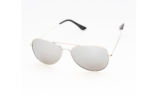 5b313b83e5aeff Zilveren aviator pilot zonnebril met spiegelglas