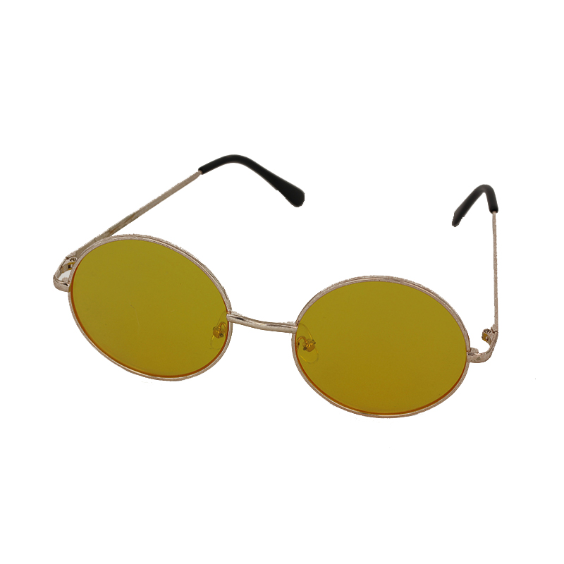 8ea3aab0f8201d Gele ronde lennon zonnebril