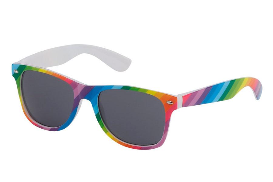 625e97170543d4 Farverig solbrille i alle regnbuens farver - Design nr. 3198