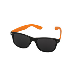 e7224027e61611 Zwarte wayfarer zonnebril met oranje montuur - Design nr. 970